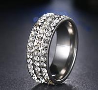 Обручальное кольцо из нержавеющей стали код 1464