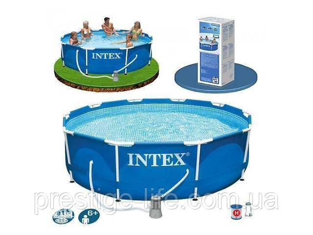 Бассейн каркасный Intex 305 х 76 см с фильтром (28202NP)