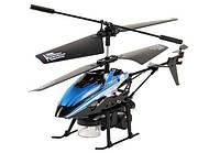 Радиоуправляемый вертолёт микро WL Toys V757 BUBBLE мыльные пузыри (синий)
