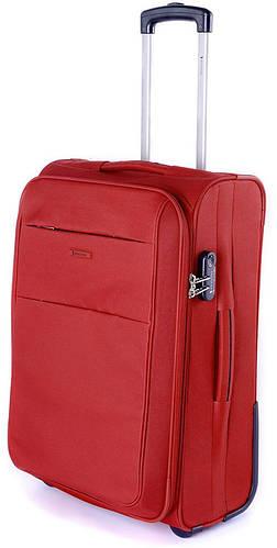 Тканевый практичный чемодан на 2-х колесах 46 л. Puccini Camerino 5702/3 красный