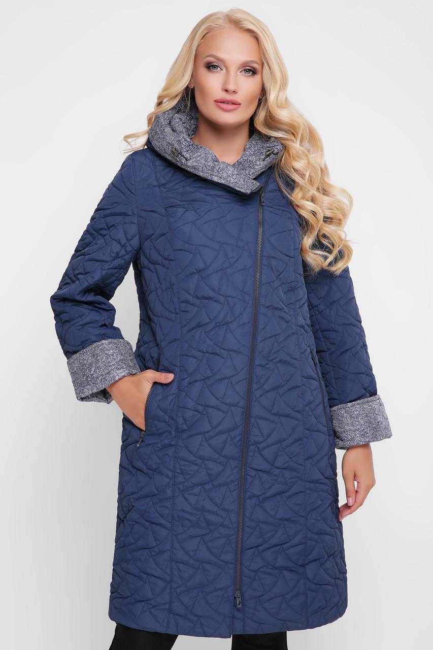 Демисезонное пальто Косуха синее
