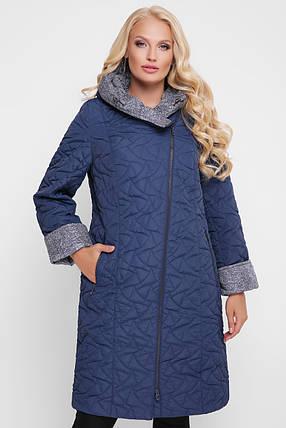 Демисезонное пальто Косуха синее, фото 2