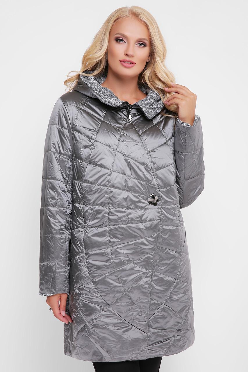 Куртка демисезонная женская Паутинка металлик 48