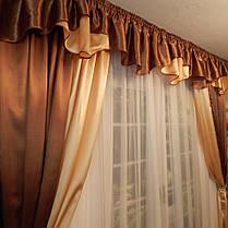 """Ламбрикен + шторы + гардина  """"Гляссе"""", комплект, фото 2"""