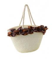Летняя женская сумка-корзина