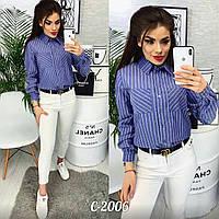 Рубашка в полоску женская, фото 1