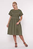 Летнее платье Мелисса оливка Размеры 50, 52, 54, 56. , фото 2