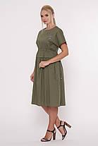 Летнее платье Мелисса оливка Размеры 50, 52, 54, 56. , фото 3
