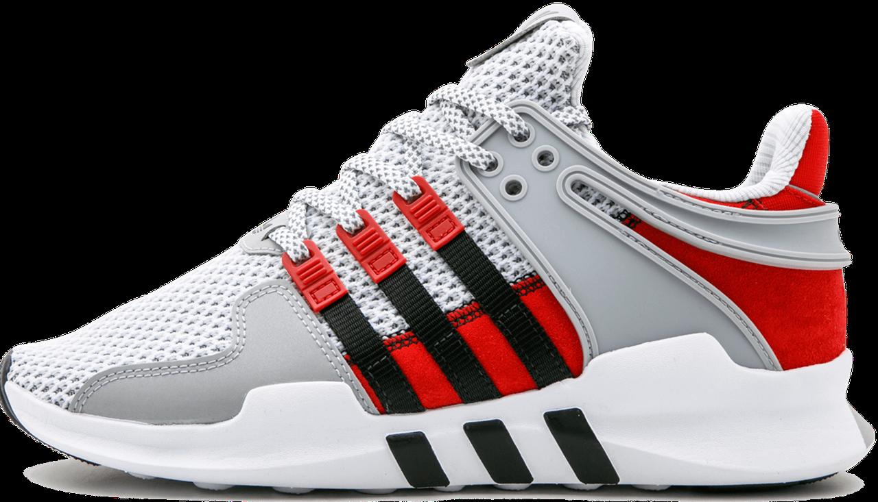 """Мужские кроссовки в стиле Adidas EQT Support ADV """"Black/Grey/Red"""" ( в стиле Адидас)"""