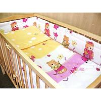 Комплект постельного белья в детскую кроватку Садовник (простынь на резинке)  хлопок ТМ Медисон Украина