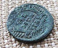 "Античная старинная монета ""Денга"" 1735г. Анна Иоановна"