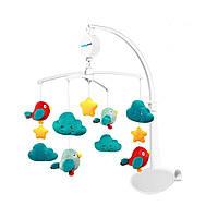Музичний мобіль, карусель, мобіль,підвіска на ліжечко Хмари і птиці тм Babyono (626)