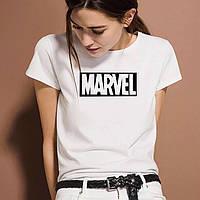 Топовая женская футболка MARVEL, стильна жіноча футболка