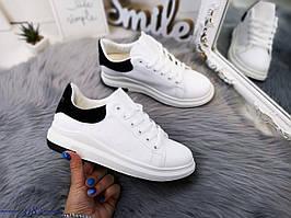 Модные кеды на шнуровке 37 р белый