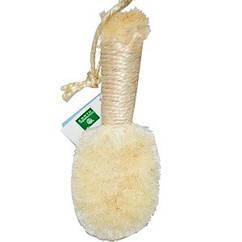 Массажная щетка для тела, очищающая, пальмовая, 1 штука Earth Therapeutics