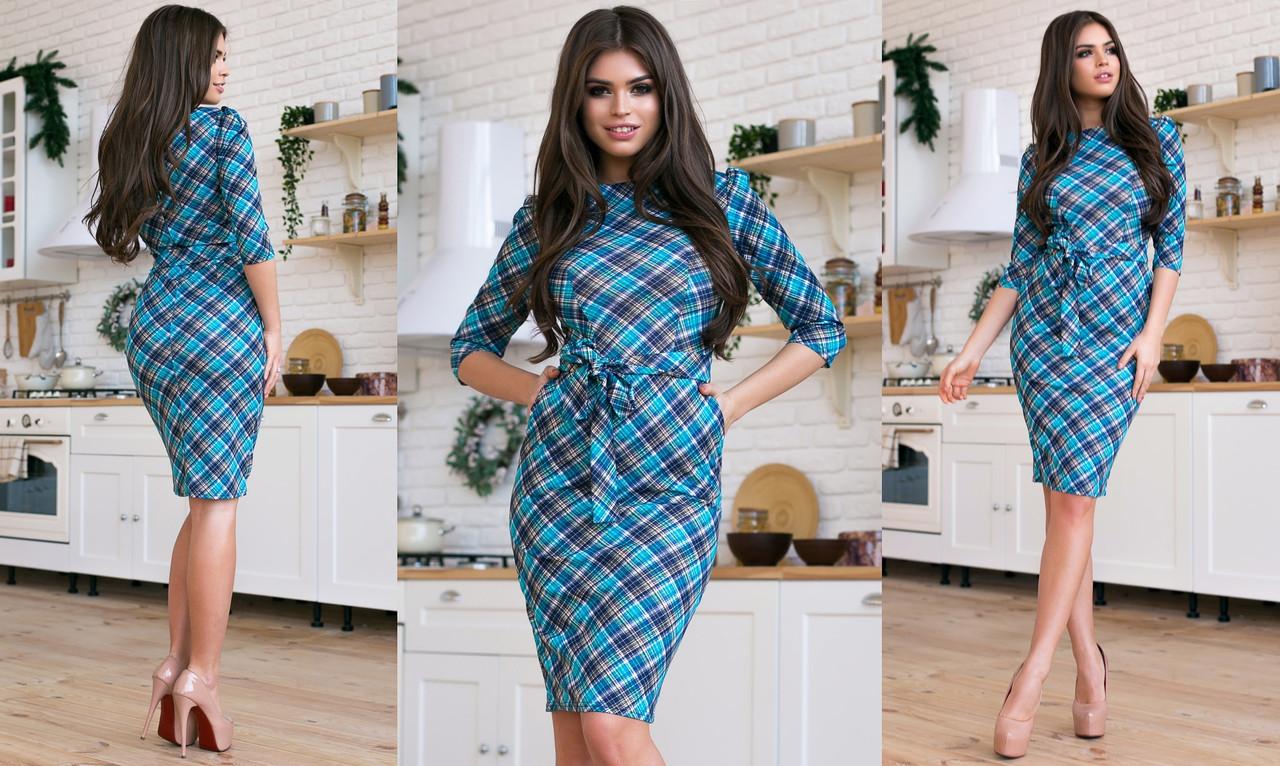 Силуэтное однотонное платье