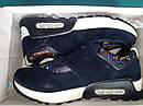 Женские кроссовки синие Замш размер 36, фото 7