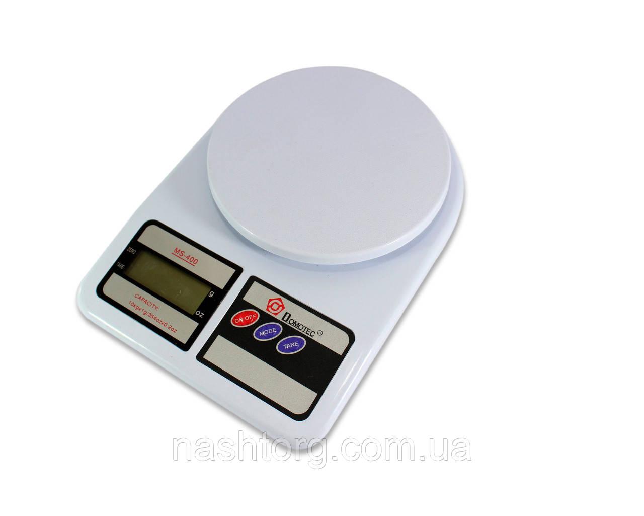 🔝 Весы кухонные (кухонні ваги) для еды Domotec ACS MS 400 на 10 кг, электронные с доставкой по Украине 🎁%🚚