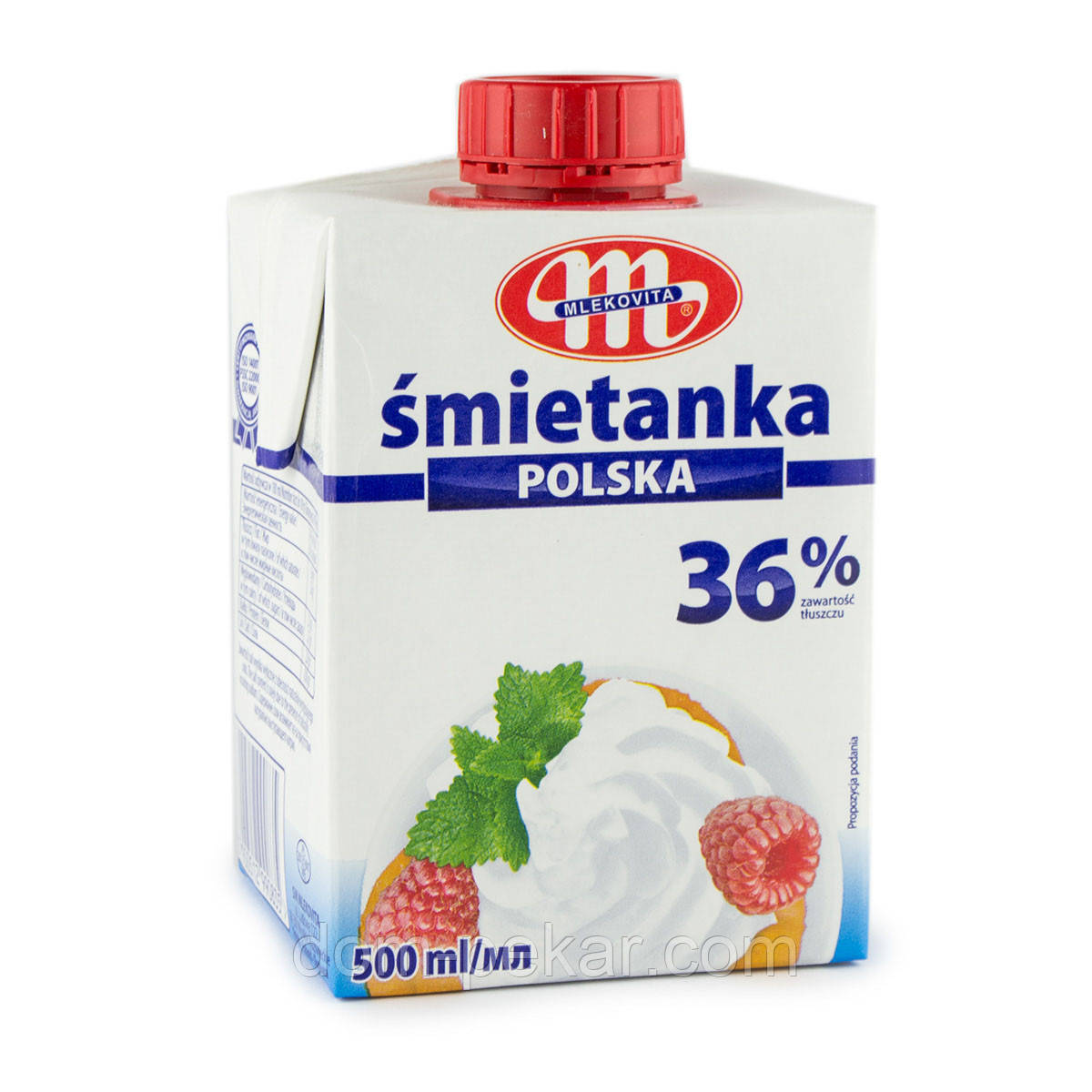 Сливки молочные MLEKOVITA 36 % (Польша), 500 мл