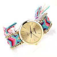 Часы веселые / цветной плетенный ремешок  / Китай, фото 1