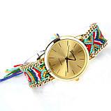 Часы веселые / цветной плетенный ремешок  / Китай, фото 4