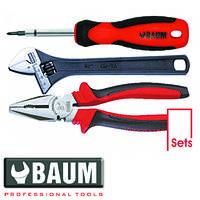 Набор инструмента на полотне 3 пр.: отвертка; плоскогубцы, L=200 мм; ключ разводной, L=200 мм BAUM 190E