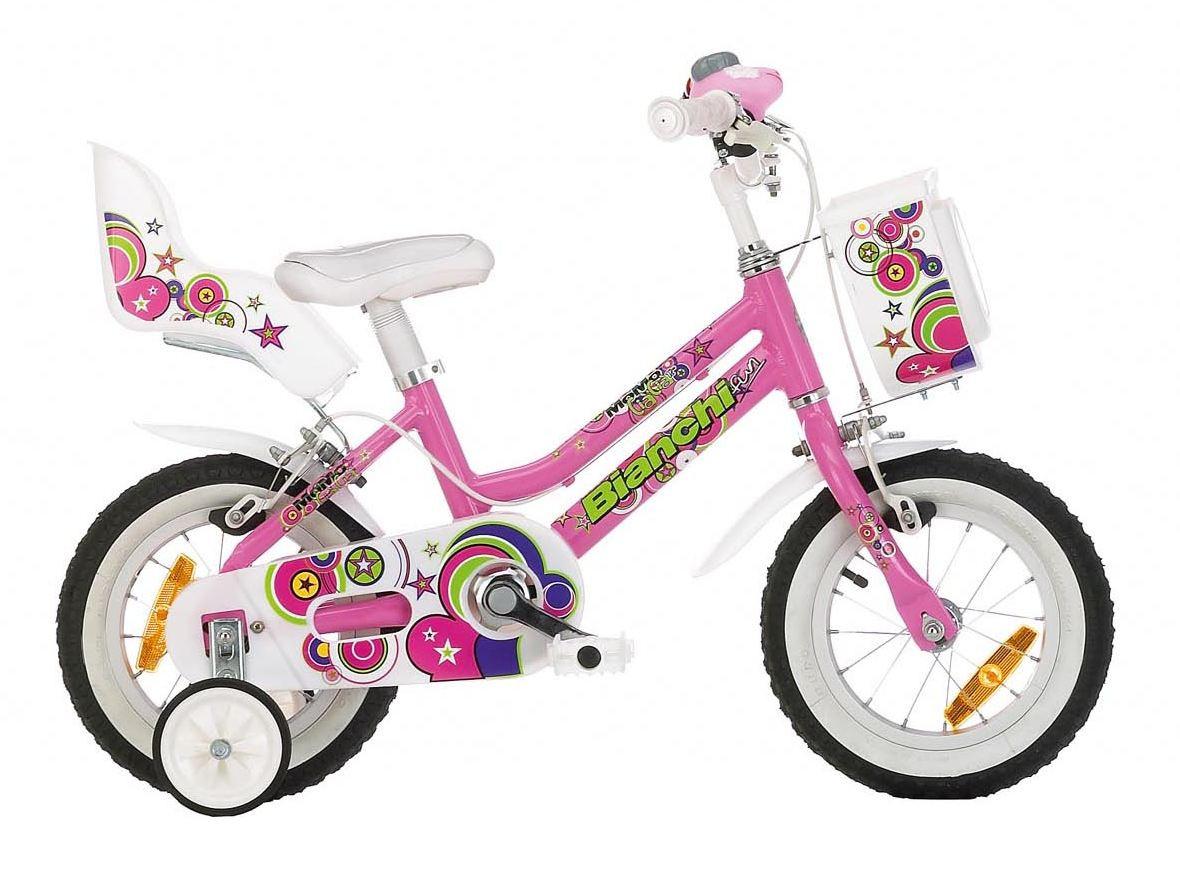Велосипед детский Bianchi MOMO CIA CIA 12'' для девочки розовый