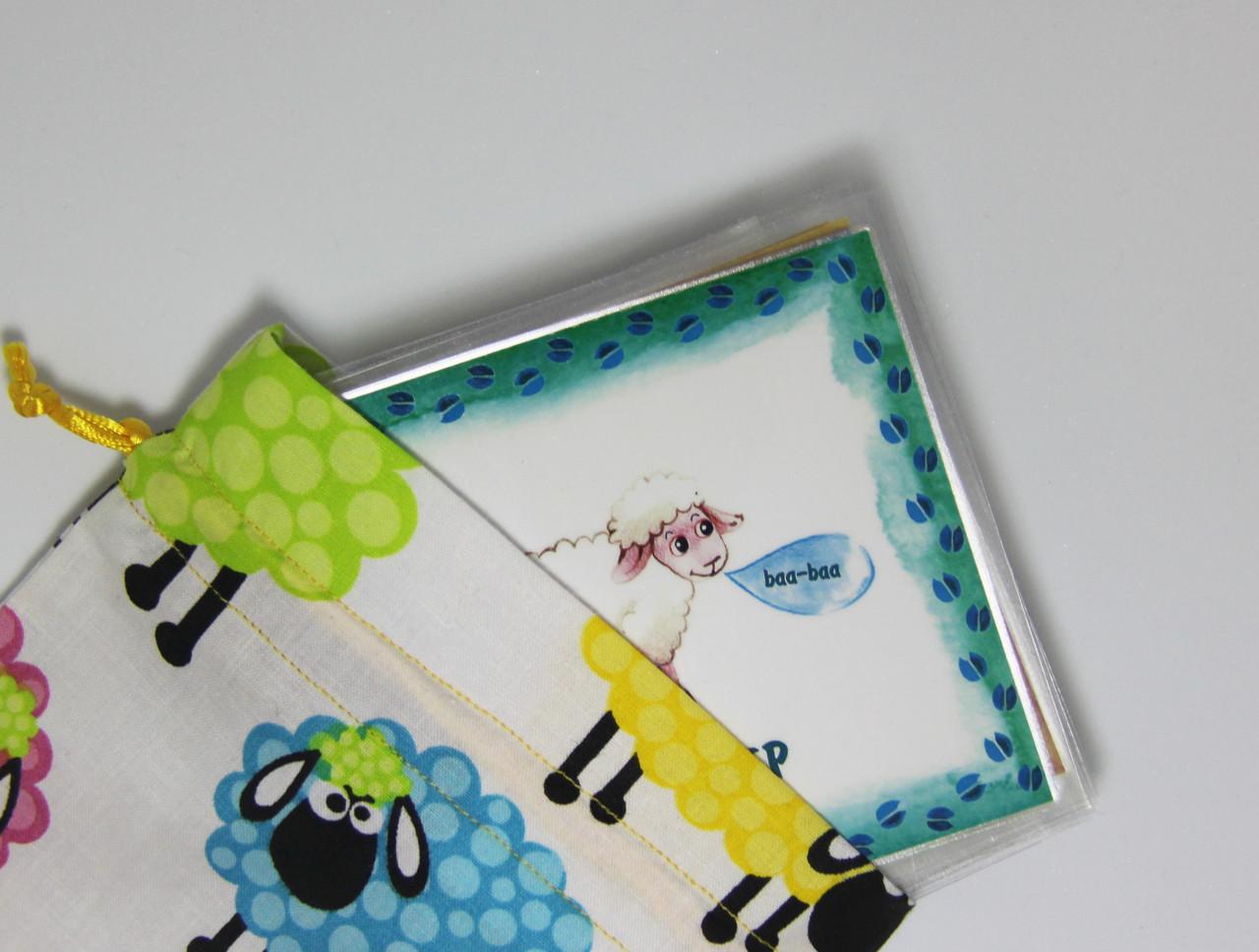 Дитячі англійські карточки з тваринками Farm animals - фото 2