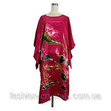 Шелковое кимоно лотос размер 44-56
