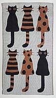 """Полотенце для рук и кухни """"Коричневый кот""""  26*50"""
