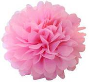 Помпон бумажный (розовый) 35 см 160517-001