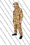 Военный костюм  Сахара 4 в 1 (50р.)