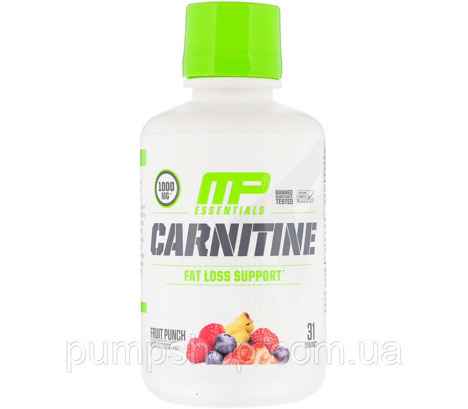 Рідкий L-карнітин MusclePharm Carnitine Essentials Liquid 459 мл