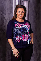 Блуза женская  с лазерным принтом