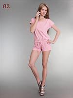 Комбинезон трикотажный розовый, фото 1