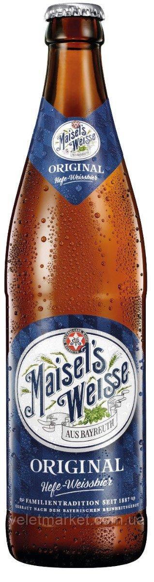 Німецьке пиво Майзелс Вайс (Maisel's Weisse Original) світле пшеничне 0,5 л