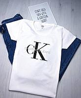 Модная женская футболка CK, стильна жіноча футболка