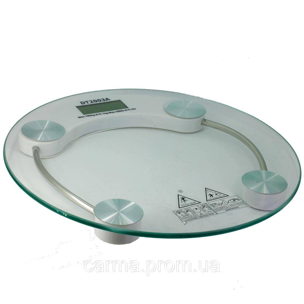 Весы напольные DiT Smart DT2003A до 180 кг, прозрачные