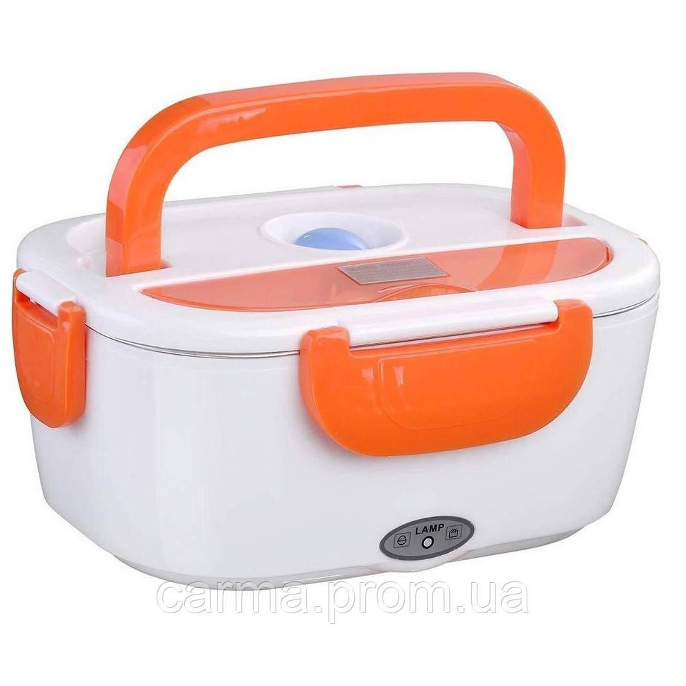 Ланч бокс LUNCH BOX с авто подогревом и питанием от автомобильного прикуривателя 12V Оранжевый