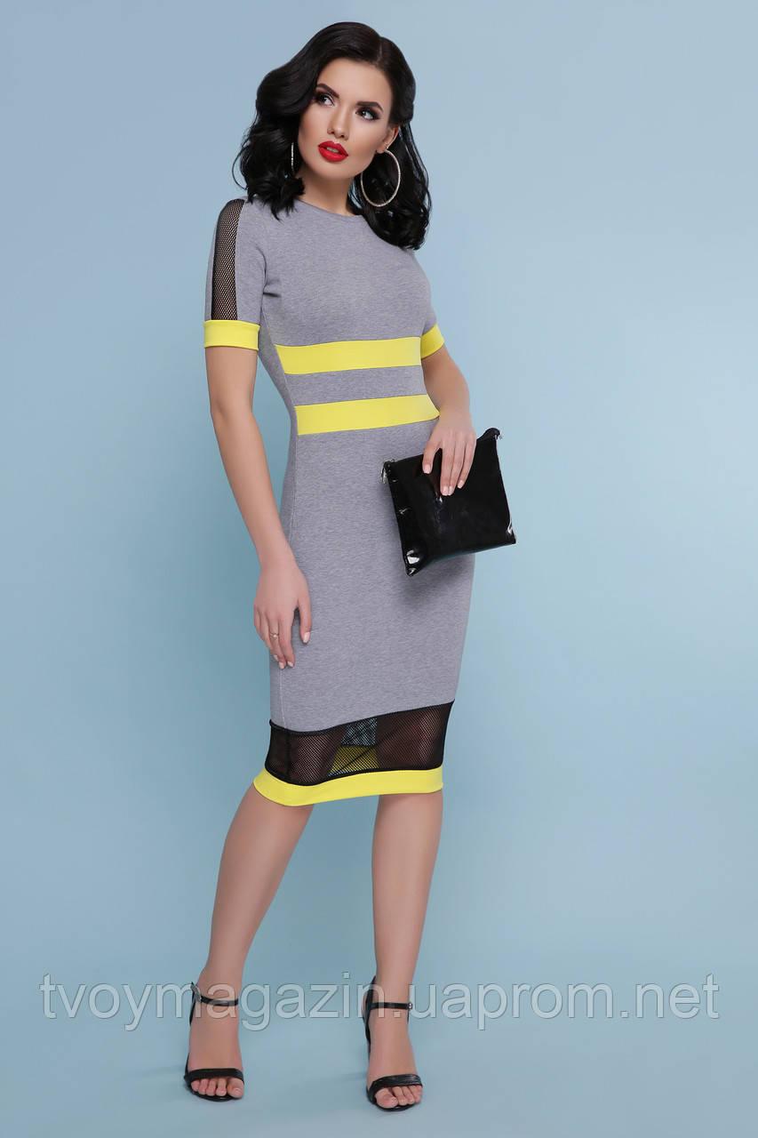 Платье миди с интересными вставками Сукня міді с цікавими вставками
