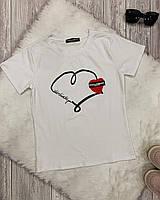 Женская футболка Heart под D&G 3 цвета, фото 1