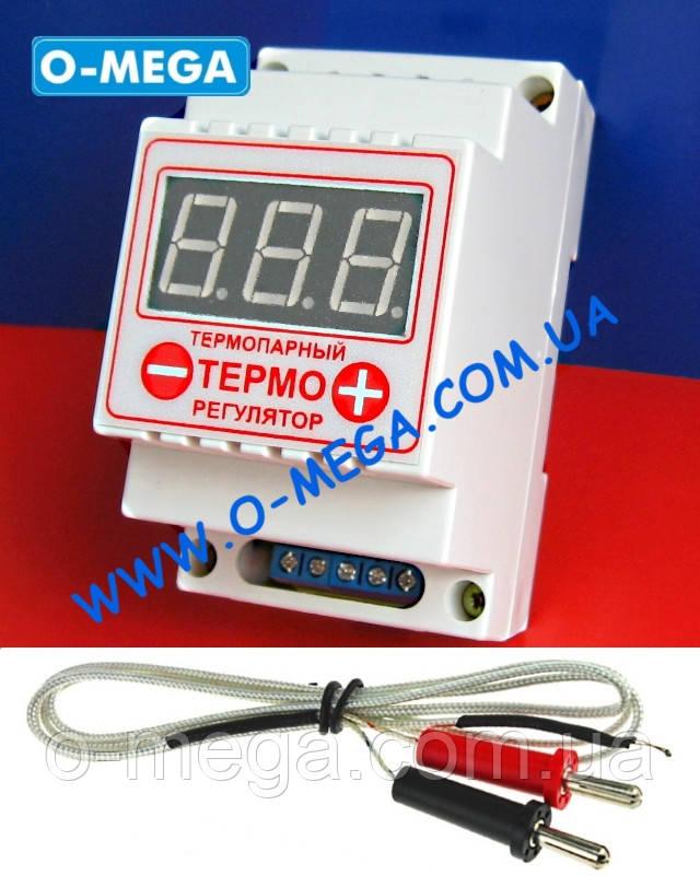 Терморегулятор цифровой термопарный ЦТР-2т (-99...+999) с термопарой TP-01 K-типа 1 метр (-50...+400°C)