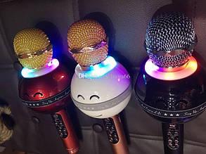 Беспроводной микрофон для караоке с подсветкой WS-878