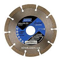 Диск алмазний VULCAN UNI сегментний: Ø= 125/ 22.23 мм