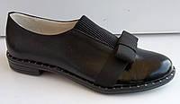 Туфли женские на низком ходу из натуральной кожи от производителя модель ДИС377