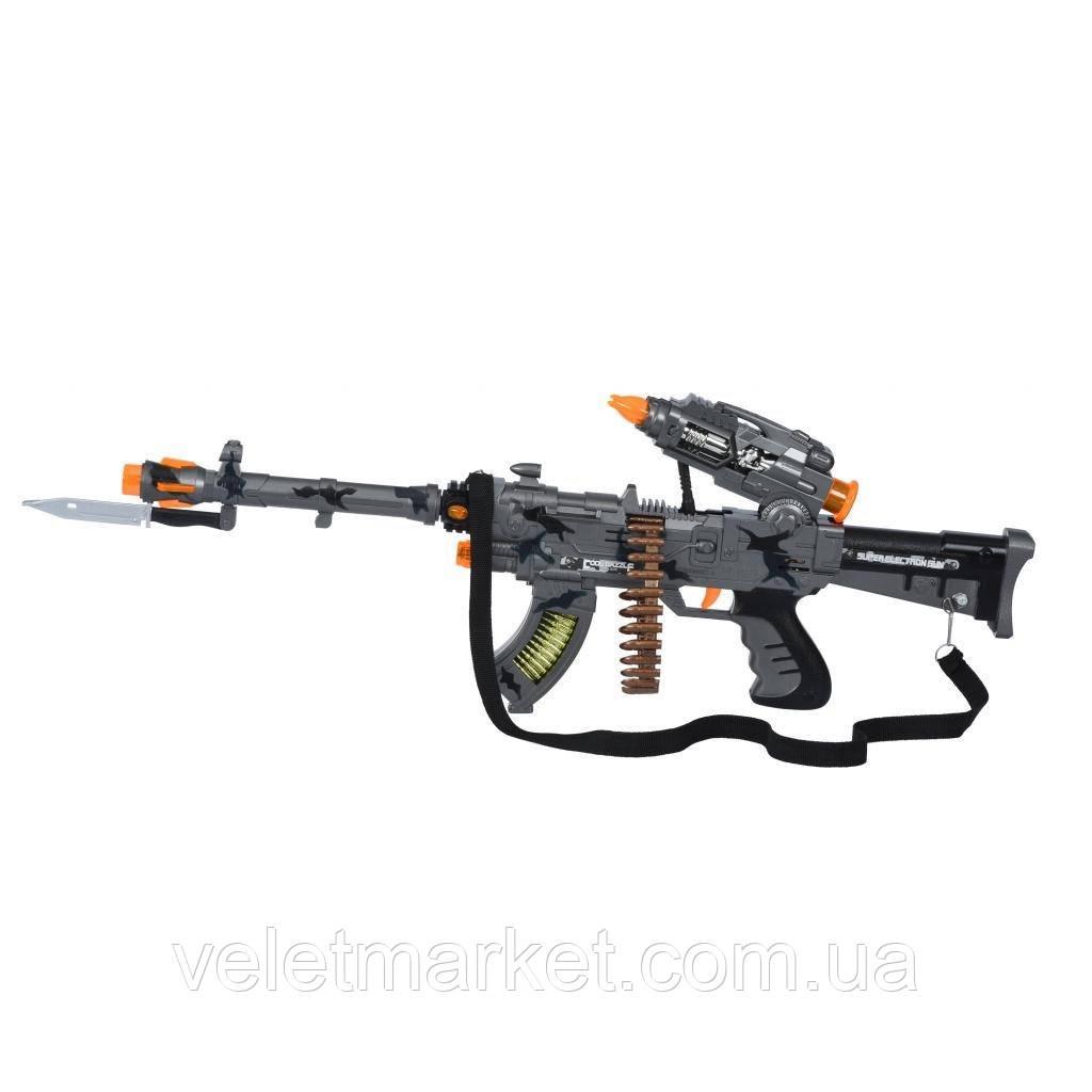 Игрушечное оружие Same Toy Сyber Mission Пулемет серый (DF-11218BUt)