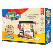 """Набор для создания миниатюрного домика """"Ice Cream  Station"""", Colorino"""