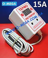 Терморегулятор цифровой ЦТР3-2ч в розетку 15А (-40...+125) гистерезис 0,1°С, фото 1