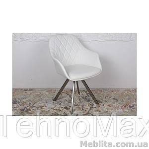 Кресло Nicolas Almeria (белое) поворотное