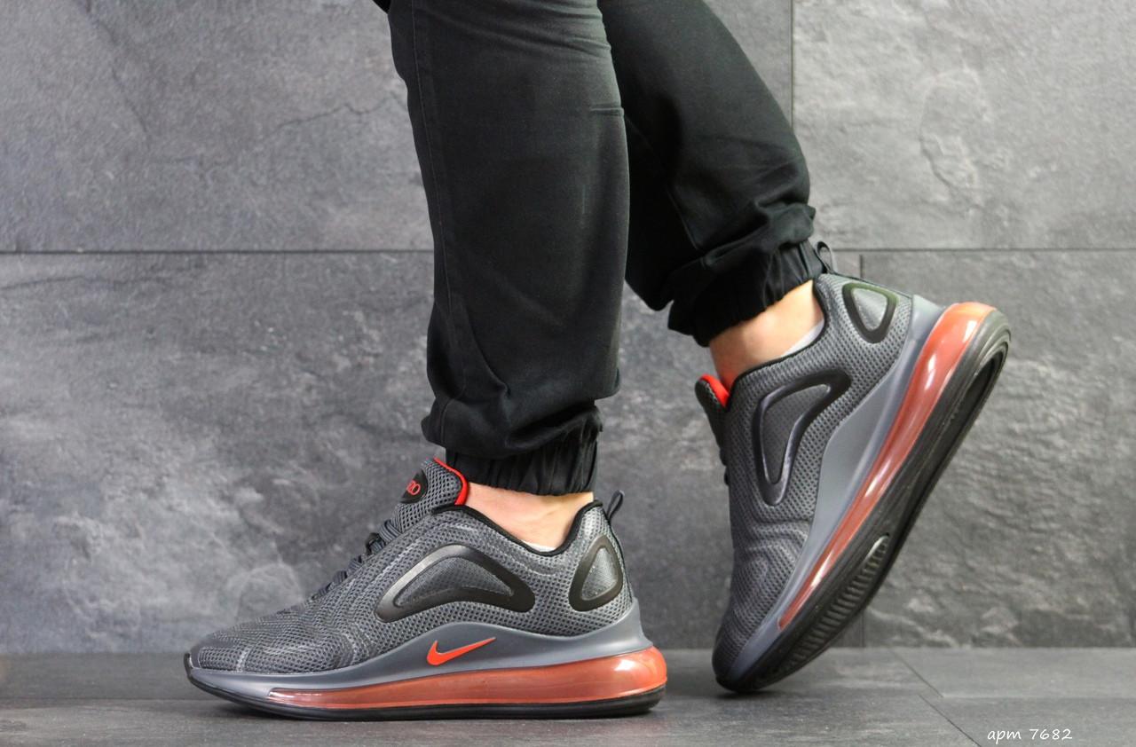 Мужские кроссовки Nike air max 720,плотная сетка, серые 43,44р